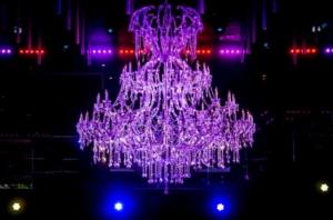 Gold Room Atlanta Chandelier Installation By Shawn Penoyer