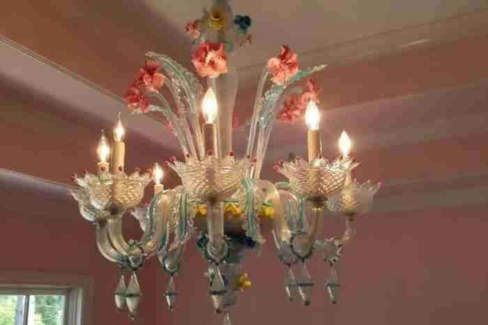 Italian Murano Glass chandelier - The River Club
