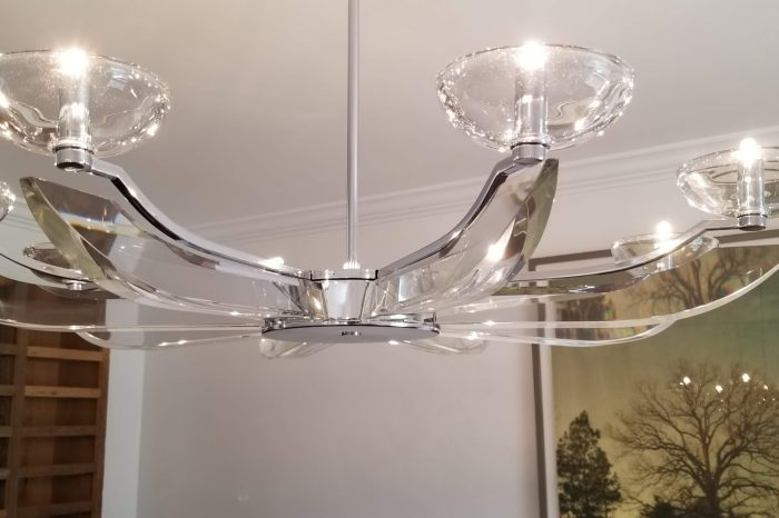 Contemporary Dining Room Chandelier - Heards Ferry Rd